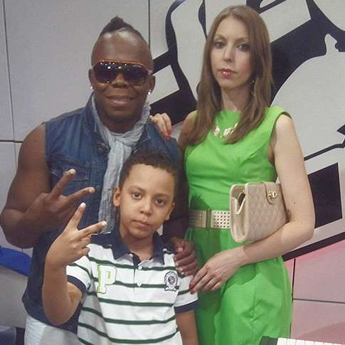 Майкл Блейз с семьей