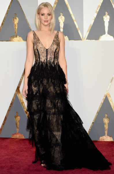 Дженнифер Лоренс на премии Оскар-2016