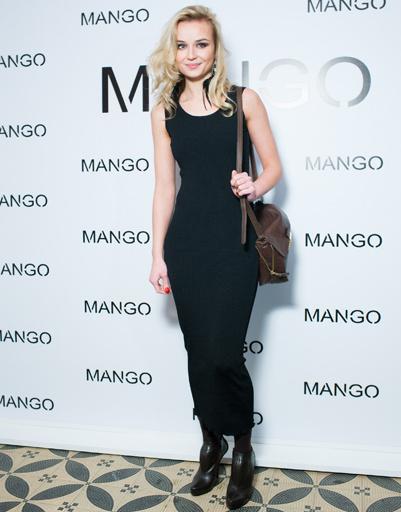 Полина Гагарина на показе Mango весна-лето 2012