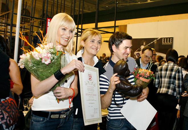 Ольга Деффи, креативный директор F5 Юлия Мятковская и Иван Айплатов