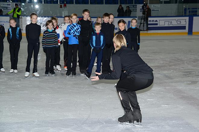 Тренировка с Плющенко