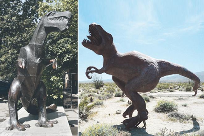 Памятник динозавру, куда сходить в Туле