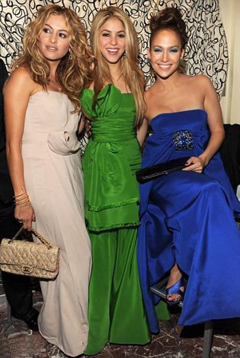 Три латинские звезды: Паулина Рубио, Шакира и Лопес