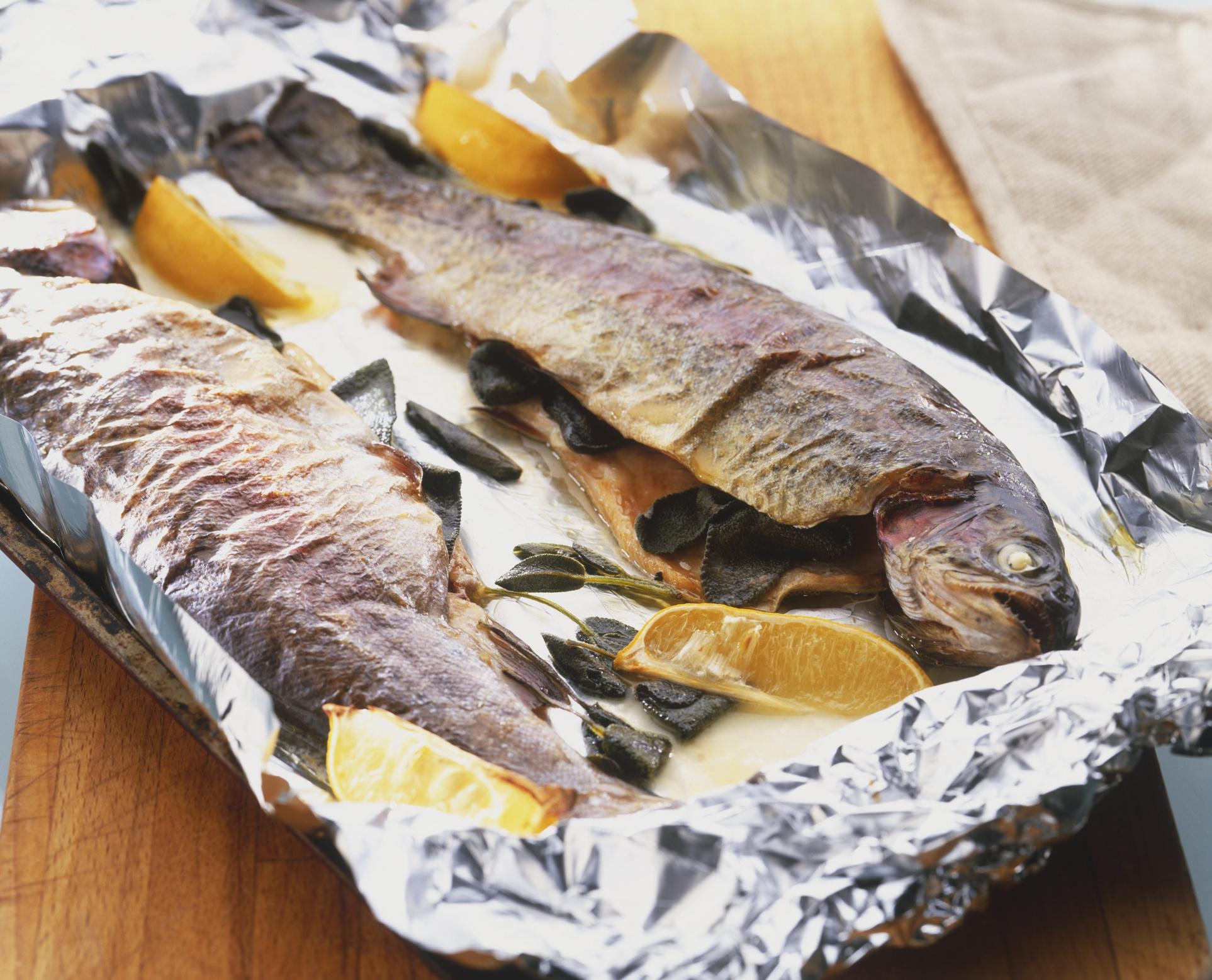 Рецепт рыба на гриле в фольге