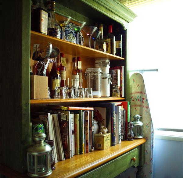 Кулинарные книги на кухне
