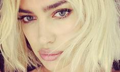 Ирина Шейк примерила образ блондинки