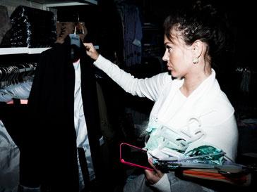Таня Терешина на открытие флагманского магазина Reserved