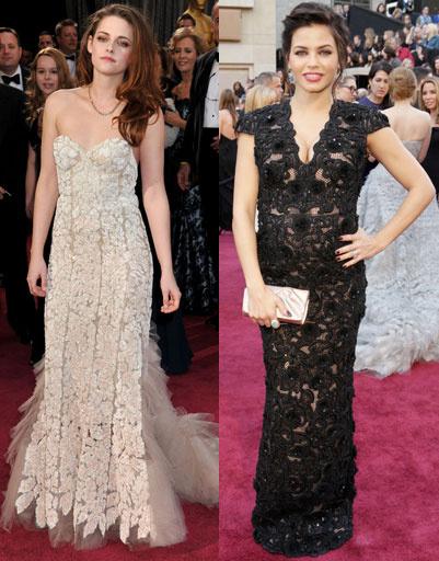 """Кристен Стюарт (Kristen Stewart) и Дженна Девон (Jenna Dewan) на """"Оскаре""""-2013"""