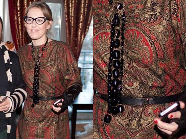 Ксения Собчак отдала предпочтение одежде приглушенных тонов