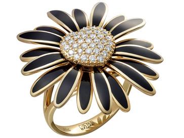 Кольцо с бриллиантами и эмалью из коллекции Love Story, Alexander ARNE
