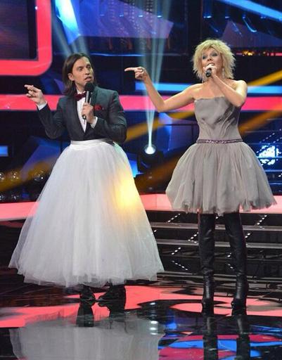 Александр Ревва и Анастасия Стоцкая в образе Валерии
