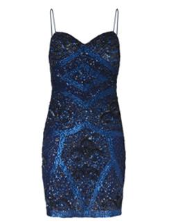 Синее платье с пайетками, Mango, осень-зима 2011/12