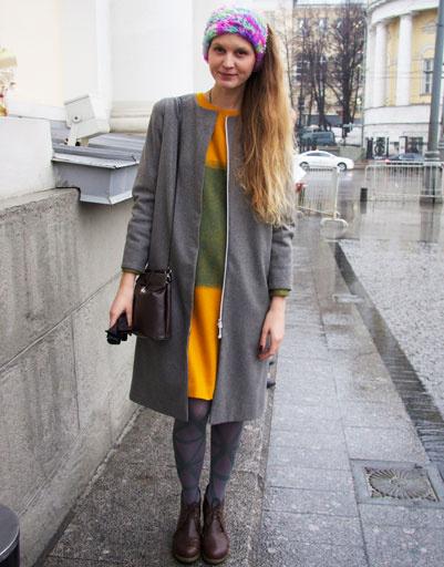 Уличный стиль на российской Неделе моды Mercedes-Benz Fashion Week Russia осень-зима 2013/14