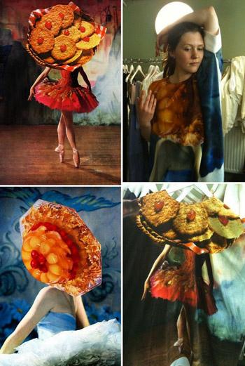 Вот одна из любопытных работ Линдер Стерлинг (Linder Sterling) – девушка-печенька. Какие мысли у вас возникают, глядя на нее: мечты балерины о сладком или голодный автор, все предметы вокруг которого превращаются в еду?