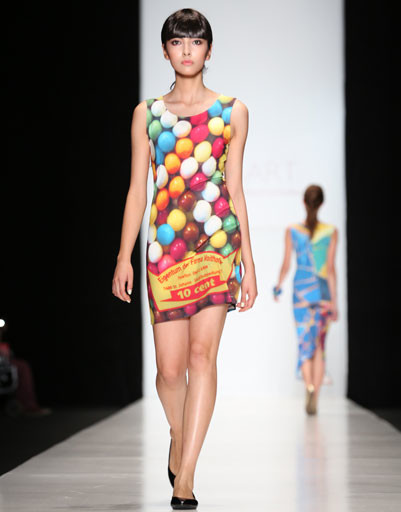 Mercedes-Benz Fashion Week Russia: коллекция ROB-ART by Katya Rozhdestvenskaya весна-лето 2013