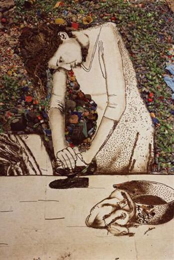 Вик Мюнис «Женщина, которая гладит (Изида)» (2008).