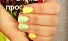 Ксения Бородина красит ногти по фэн-шуй