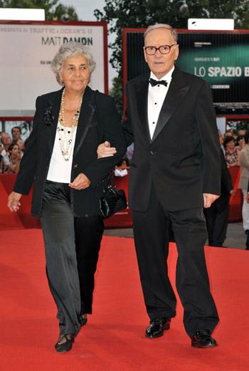 Эннио Морриконе с женой Марией