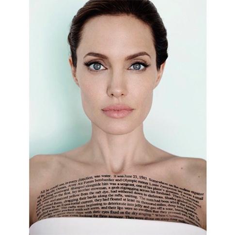 Анджелина Джоли : фото тату