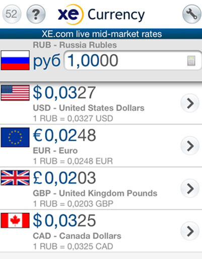 Приложение XE Currency Converter