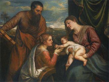 Картина написана характерными для позднего периода творчества Тициана широкими мазками