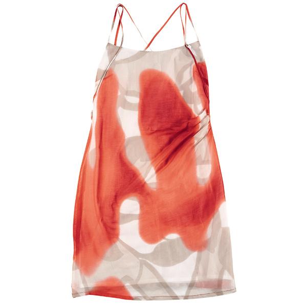 Двуслойное платье с драпировкой, Tru Trussardi.