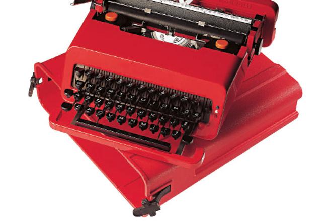Пишущая машинка Valentine, дизайн Этторе Соттсасса, 1969 год.