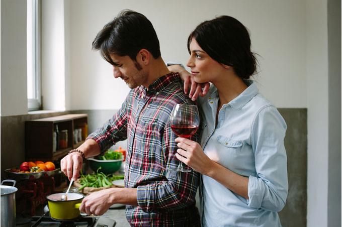 Пара в кухне
