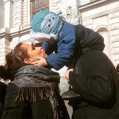 Алена Павлова, сын, фото