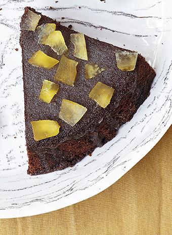 Рецепт : шоколадный кекс с лимоном