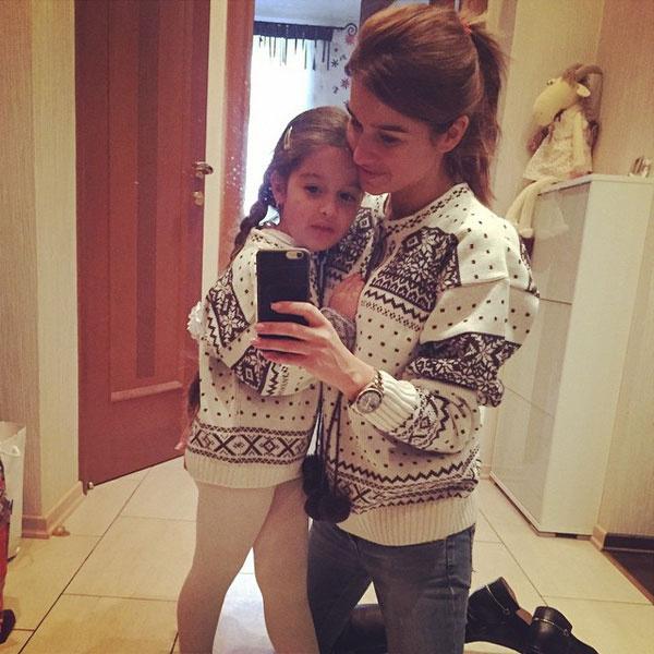 Ксения Бородина с дочерью Марусей