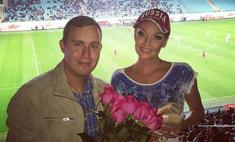 Волочкова ходит на футбол с пуантами