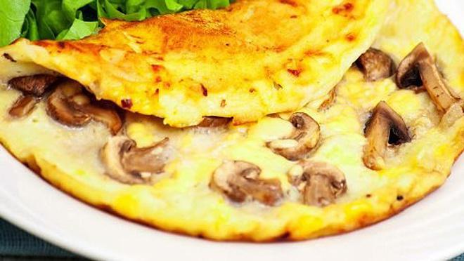 Омлет с грибами рецепт с фото
