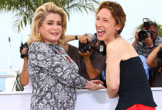 Катрин Денев и Эммануэль Беркот, фестиваль в Каннах, фото