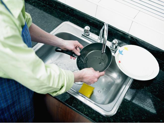 как очистить сковороду с керамическим покрытием