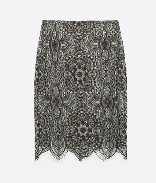 Юбка кружевная Zara, фото