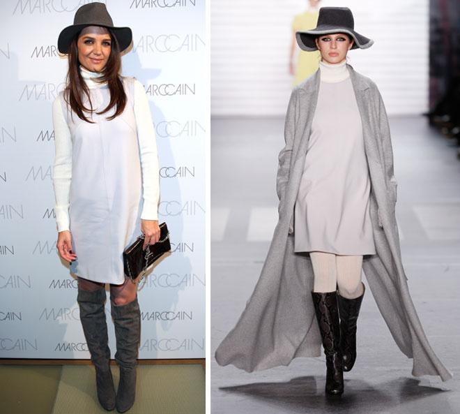 Кэти Холмс выбрала наряд из коллекции Marc Cain осень-зима 2015