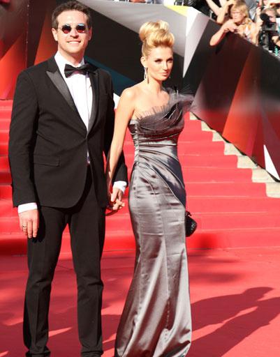 Саша Савельева с мужем на ММКФ-2013