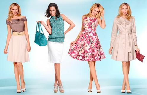 В коллекции Quelle можно найти воздушные платья с цветочным принтом и тонкие блузы