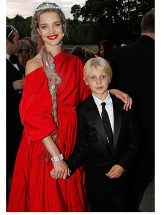 Наталья Водянова (Natalia Vodianova) с сыном Лукасом