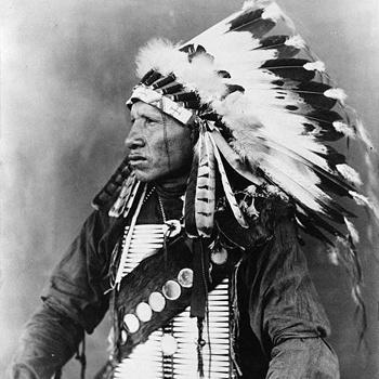 Красная птица – вождь племени Сиу (1908 год).