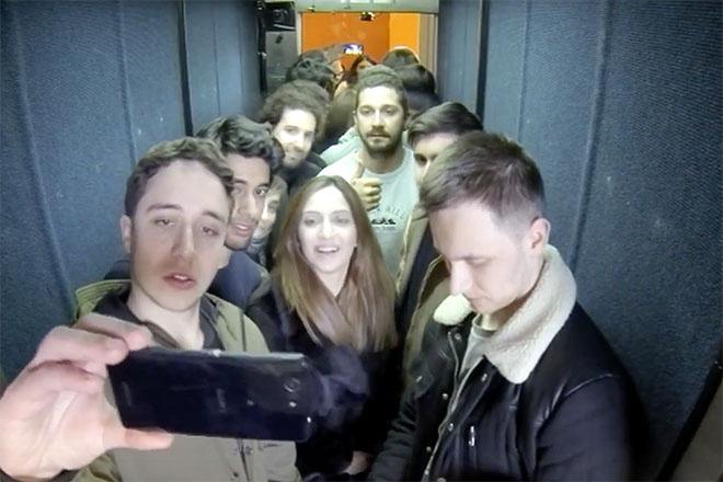 Шайа Лабаф сутки провел в лифте