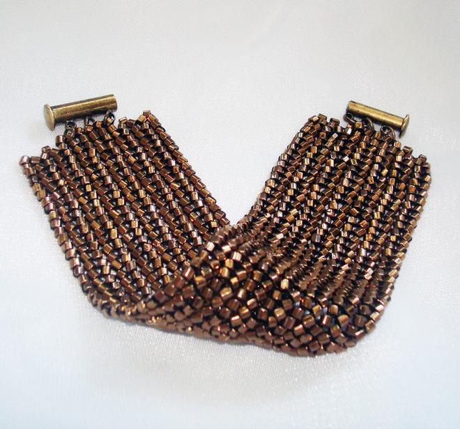 Широкие браслеты из бисера, ярмарка мастеров, ручная работа
