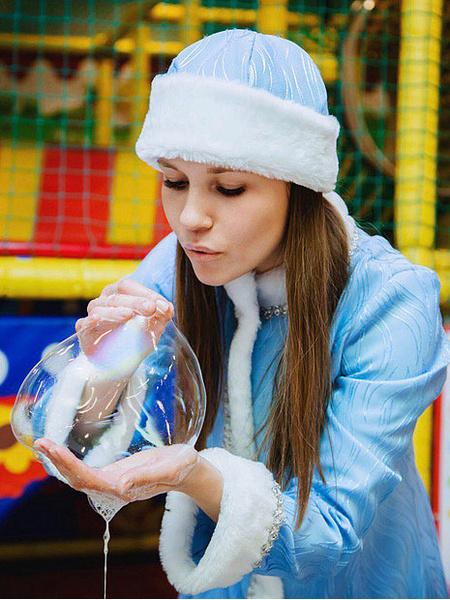 Екатерина Харисова в образе Снегурочки, фото