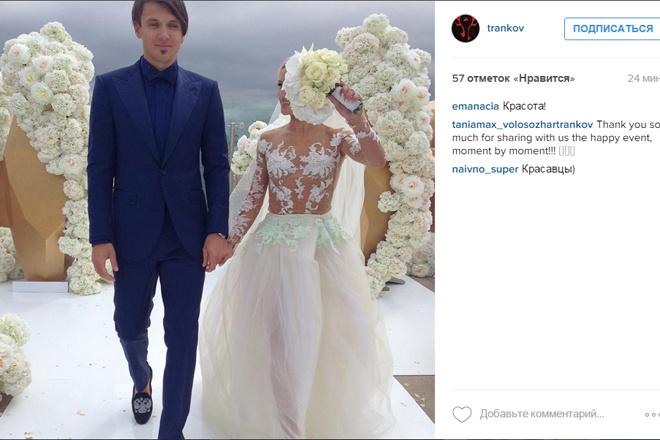 Свадьба Татьяны Волосожар и Максима Транькова фото