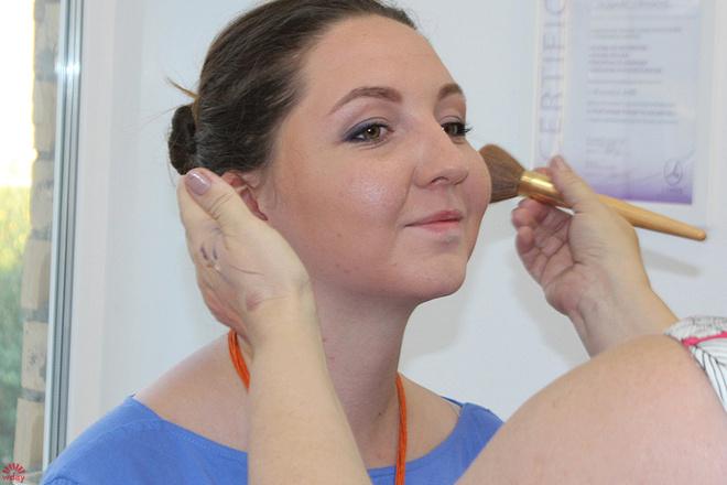 Анна Давыдова, макияж до и после, фото