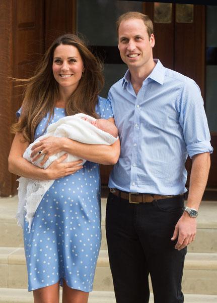 Кейт Миддлтон, принц Джордж и принц Уильям