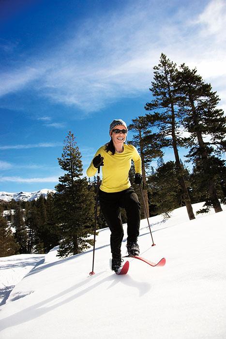 Секс на лыжах в лесу