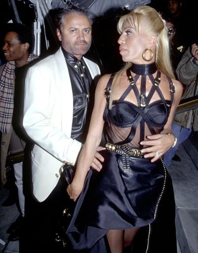 Донателла Версаче (Donatella Versace) и Джанни Версаче (Gianni Versace)