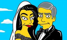 Клуни и его жена Амаль стали героями «Симпсонов»